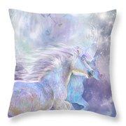 Unicorn Soulmates Throw Pillow