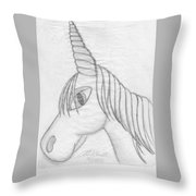 Unicornlove Throw Pillow