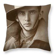 Unidentified Soldier Of The First Aif Throw Pillow