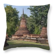 Unidentified Wat Wihan And Chedi Dthst0074 Throw Pillow