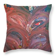 Unintended Abstract  Throw Pillow