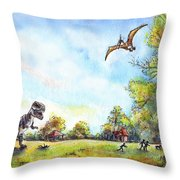 Uninvited Picnic Guests Throw Pillow