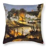 Union Bombardment, 1862 Throw Pillow