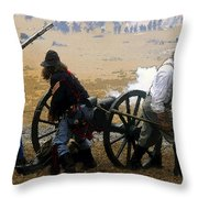 Union Canonniers Throw Pillow