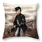 Union Drummer Boy John Clem Throw Pillow by War Is Hell Store