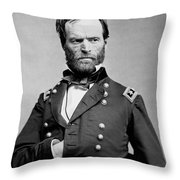 Union General William Tecumseh Sherman 1865 Throw Pillow