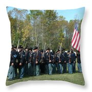 Union Infantry March Throw Pillow