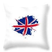 Union Jack - Flag Of The United Kingdom Throw Pillow
