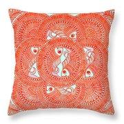 Union  Orange Throw Pillow