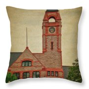 Union Pacific Railroad Depot Cheyenne Wyoming 01 Textured Throw Pillow