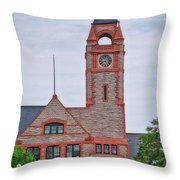 Union Pacific Railroad Depot Cheyenne Wyoming 01 Throw Pillow