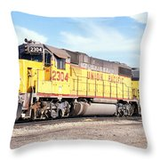Union Pacific Up - Railimages@aol.com Throw Pillow