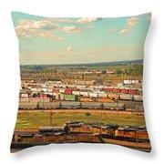 Union Pacific's Bailey Yard Throw Pillow