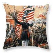 Union Recruitment, C1864 Throw Pillow
