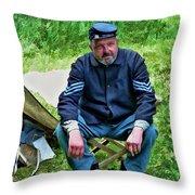 Union Sergeant Throw Pillow