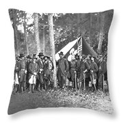 Union Soldiers Throw Pillow