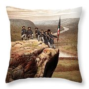 Union Soldiers On Lookout Mountain Throw Pillow