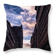 Dusk Over A Union Square Coffee Throw Pillow