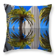 Union Square Skyscrapers Throw Pillow