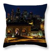 Union Station In Kansas City Throw Pillow