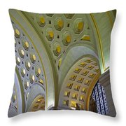 Union Station Ceiling Throw Pillow