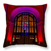 Union Station Decked Out For The Holidays Throw Pillow