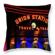 Union Station Lights Throw Pillow