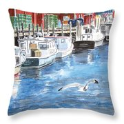 Union Wharf Throw Pillow