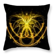 Unique Abstract Golden Pendant Throw Pillow