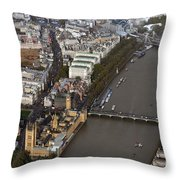 Unique And Rare Aerial View Of Iconic City Of London Throw Pillow