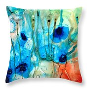Unique Art - A Touch Of Red - Sharon Cummings Throw Pillow