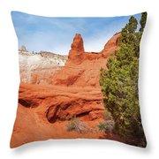 Unique Desert Beauty At Kodachrome Basin State Park Throw Pillow