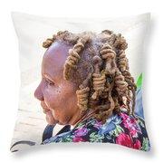 Unique Hair Throw Pillow