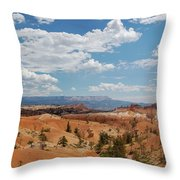 Unique Landscape Of Bryce Canyon Throw Pillow