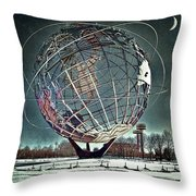 Unisphere Throw Pillow
