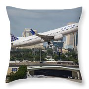 United Airlines Throw Pillow