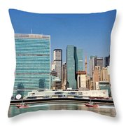 United Nations Building Throw Pillow
