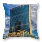 United Nations Headquarters Throw Pillow