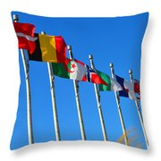 United We Stand Flags Art Throw Pillow
