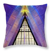 United States Air Force Academy Cadet Chapel 3 Throw Pillow