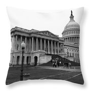 United States Capitol Building 2 Bw Throw Pillow