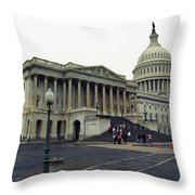 United States Capitol Building 2 Throw Pillow