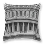 United States Capitol Building Bw Throw Pillow