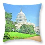 United States Capitol - Washington Dc Throw Pillow