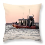 United States Coast Guard Heading Out Throw Pillow