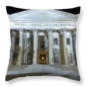 United States Custom House Throw Pillow