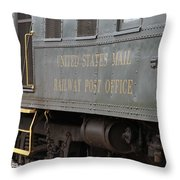 United States Mail Railway Post Office Box Car Throw Pillow