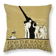 United States Navy Recruitment Poster From 1918 Throw Pillow