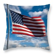 United States Of America Throw Pillow by Steve Gadomski