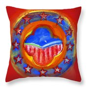 United States Of Europe Throw Pillow